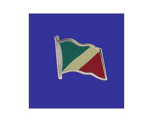 Congo Republic Lapel Pin (Single Waving Flag)