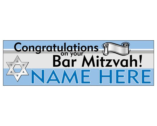 congratulations bar mitzvah banner holiday celebration flags