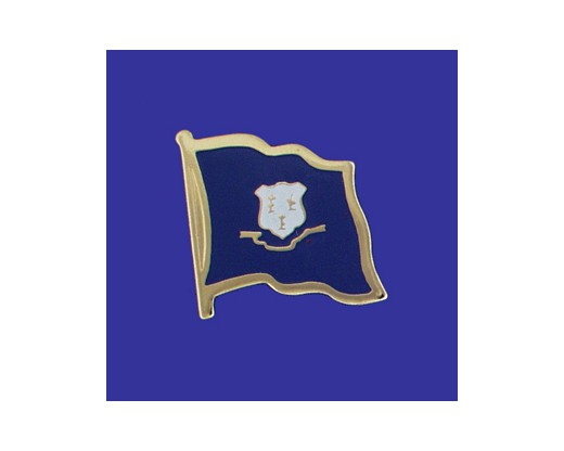 Connecticut State Flag Lapel Pin (Single Waving Flag) (Imported - Close Out)