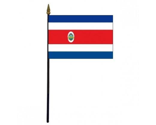 """Costa Rica Stick Flag - 4x6"""""""
