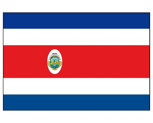 costa rica flag costa rica flags central america flags country