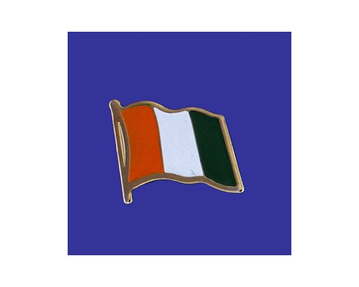 Cote D'Ivoire Lapel Pin (Single Waving Flag)