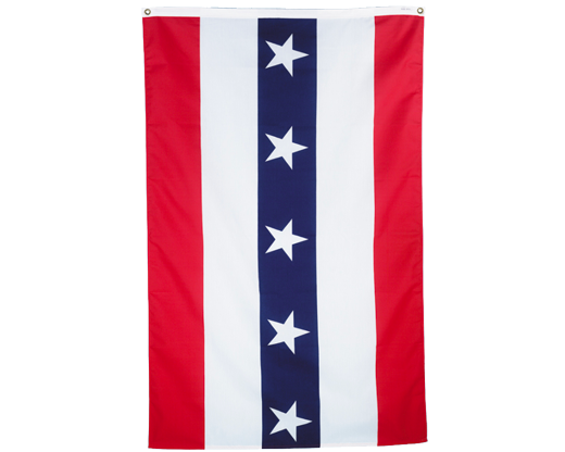 Patriotic Half Fan Flats with Stars