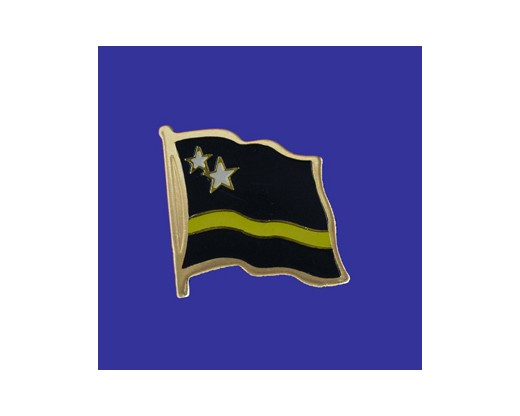 Curacao Lapel Pin (Single Waving Flag)