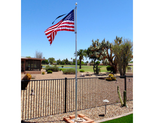 An All-Weather American flag by Gettysburg Flag Works flies proudly in Arizona breezes
