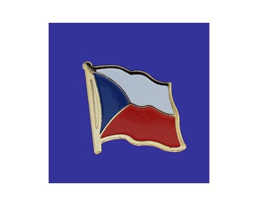 Czech Republic Lapel Pin Single Waving Flag