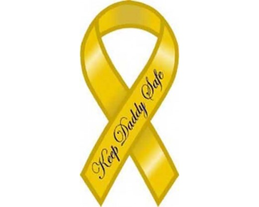 Daddy Safe Yellow Ribbon Magnet
