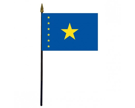 Congo Democratic Republic Stick Flag (Historical) - 4x6""