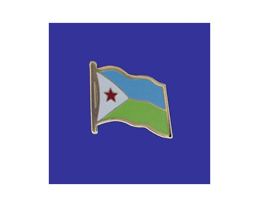 Djibouti Lapel Pin (Single Waving Flag)