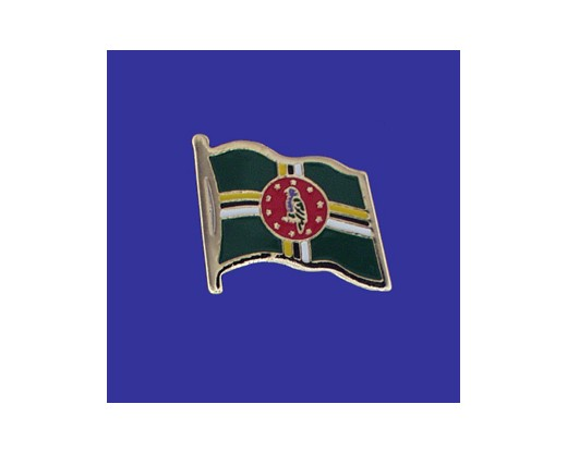 Dominica Lapel Pin (Single Waving Flag)