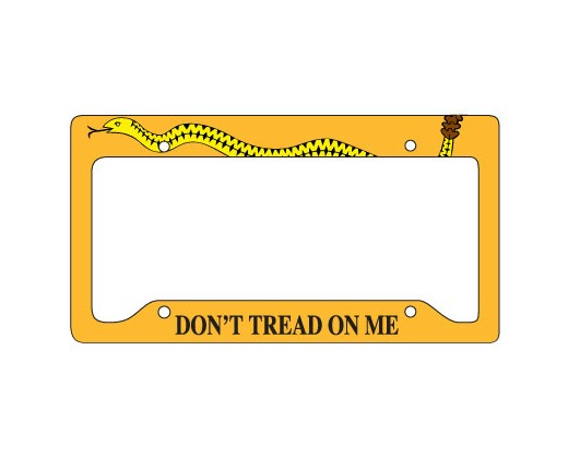 Gadsden License Plate Frame