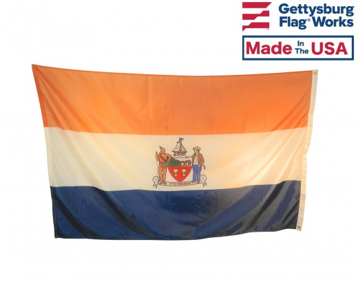 City Of Albany Flag with Grommets back