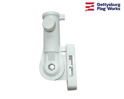 Flagpole Bracket 13 Position (White Nylon)