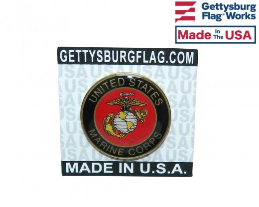 Marine Corps Round Lapel Pin-Black