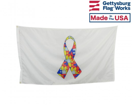 Autism Ribbon Flag