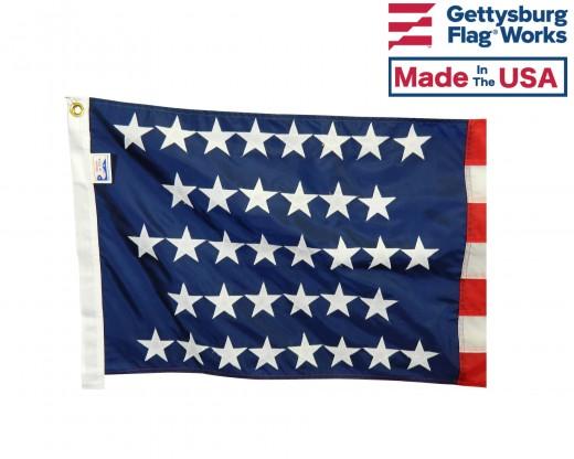 36 Star Flag canton