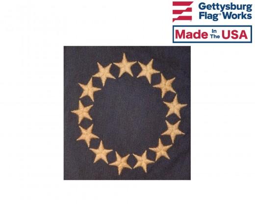 Tea Stained Betsy Ross Garden Flag