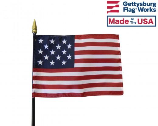 """Star Spangled Banner Stick Flag - 4x6"""""""