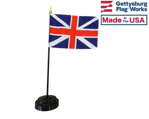 "British Union Jack Stick Flag - 4x6"""