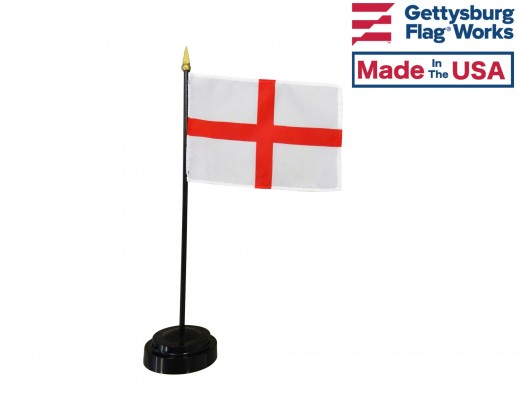 "England Stick Flag (St. George Cross) - 4x6"""