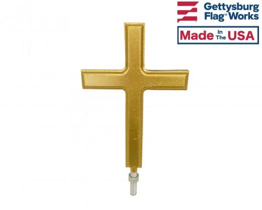 Christian Cross In-Ground Flag Pole Finial