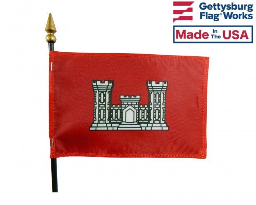 Army Engineer Stick Flag