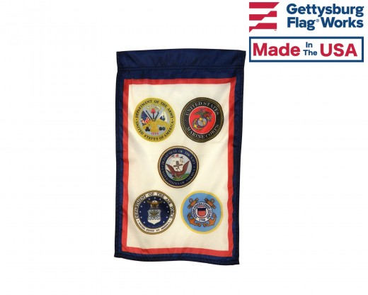 US Armed Forces (5 Branches) Garden Flag