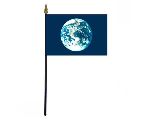 Earth Stick Flag - 4x6""