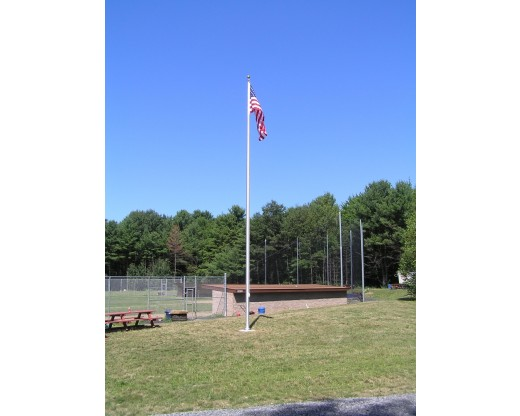 Easy Order Aluminum Flagpole 30' - softball field