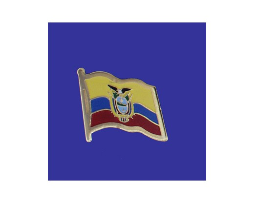 Ecuador (seal design) Lapel Pin (Single Waving Flag)