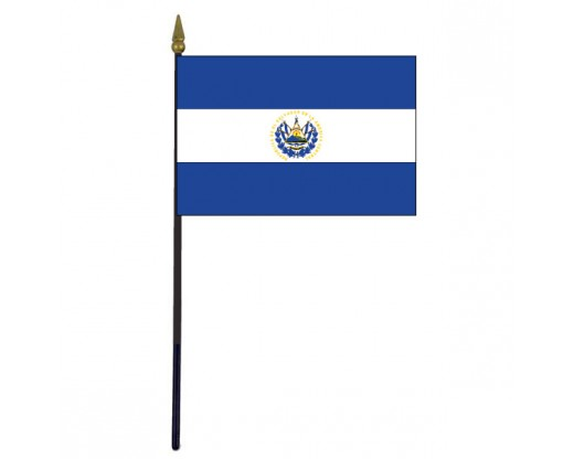 El Salvador Stick Flag - 4x6""
