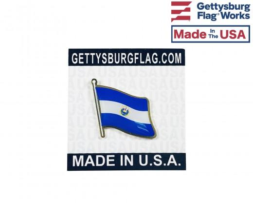 El Salvador Lapel Pin (Single Waving Flag)