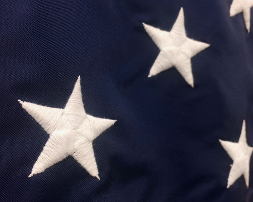Battle-Tough® American Flag Embroidered Stars