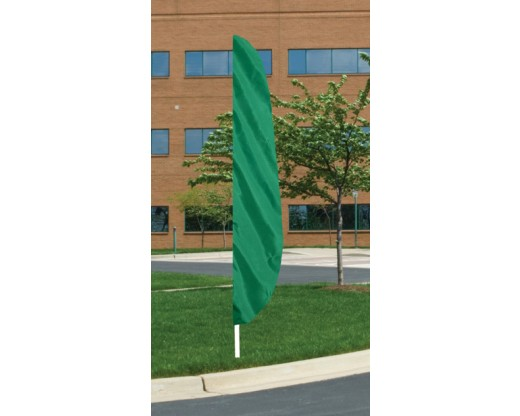 "12'x26"" Blank Feather Flag, 3"" Capped Pole Sleeve, Emerald Green"