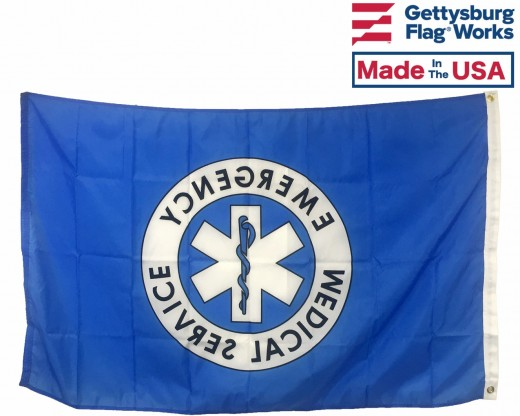 EMS FLAG - 3x5' BACK