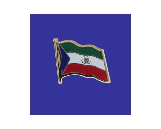 Equatorial Guinea Lapel Pin (Single Waving Flag)