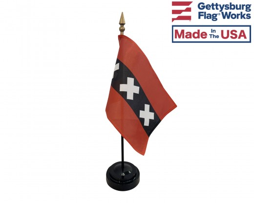 "Amsterdam Stick Flag (Holland) - 4x6"""