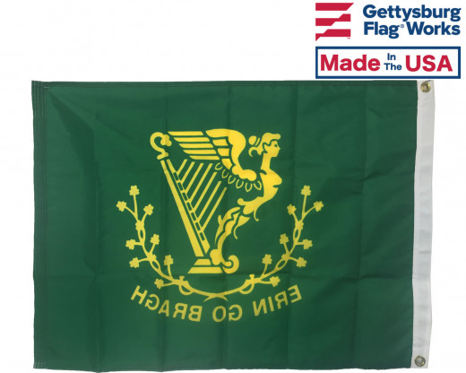 Back of Erin Go Bragh Flag