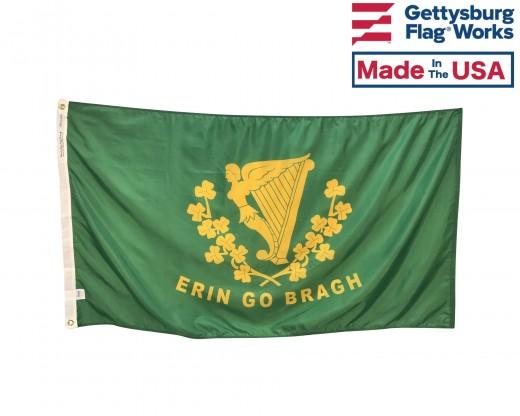 Back of Erin Go Bragh Flag