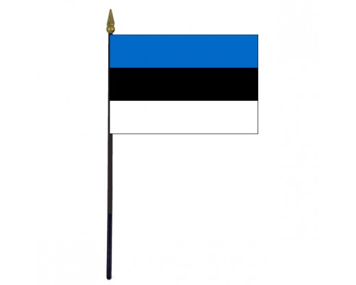 Estonia Stick Flag - 4x6""