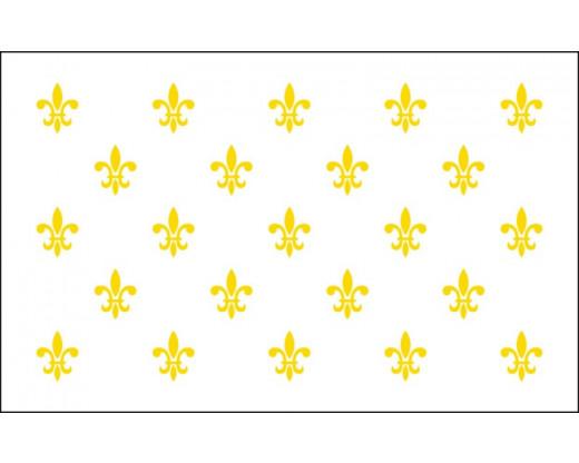 FLEUR-DE-LIS FLAG (23 ON WHITE) - 3X5'