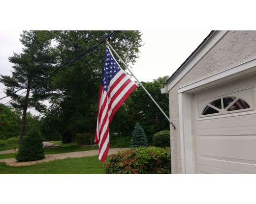 Fiberglass Pole in use with American Flag