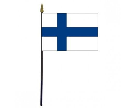 "Finland Stick Flag - 4x6"""