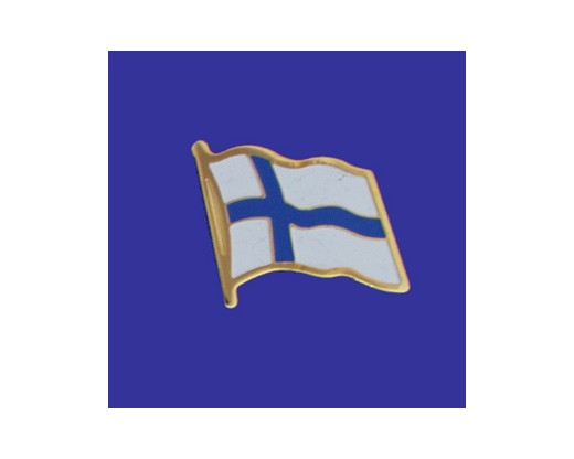 Finland Lapel Pin (Single Waving Flag)