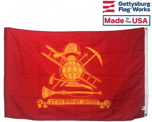 Back of Firefighter (Loyal) Flag