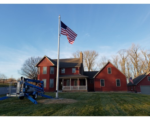 Residential aluminum in-ground flag pole