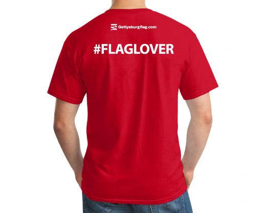 #FlagLover T-Shirt Back Model