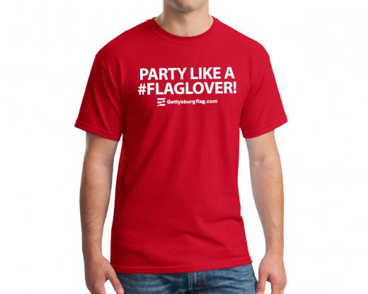 #FlagLover T-Shirt on model