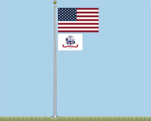 Salute to Heroes Aluminum Flagpole Kit