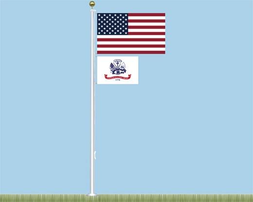 Salute to Heroes Fiberglass Flagpole Kit